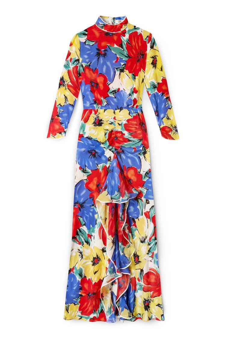 Vintage floral print dresses