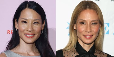 lucy liu hair transformation