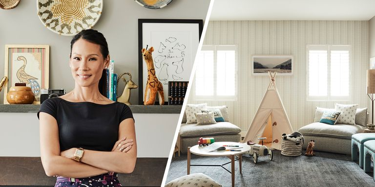 lucy liu s new playroom is fun enough for kids and stylish enough