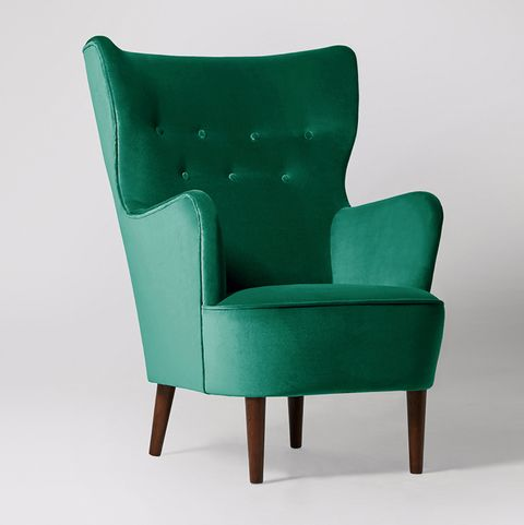 Velvet Swoon chair