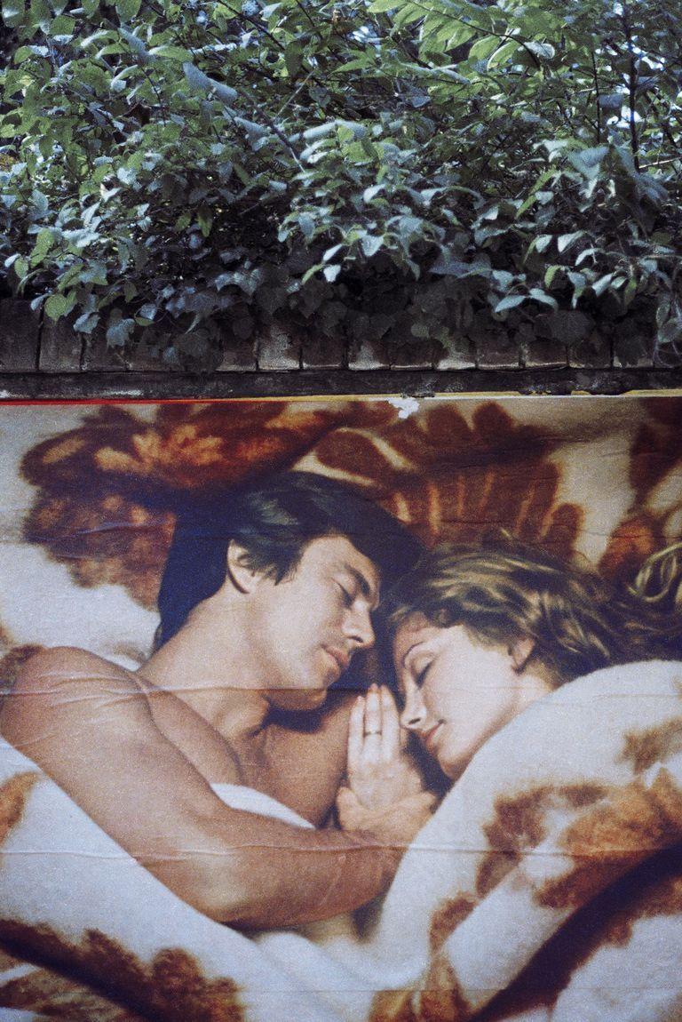 Luigi Ghirri, Modena, cartellone pubblicitario, coppia