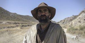 Luis Tosar en el rodaje de 'Intemperie'