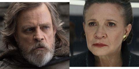 Luke and Leia in Star Wars: The Last Jedi