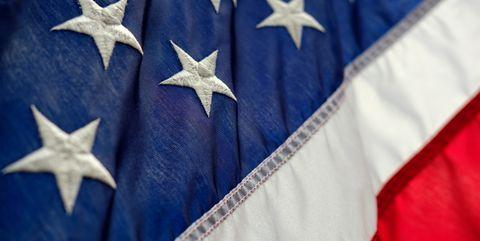 Flag, Cobalt blue, Blue, Flag of the united states, Sky, Electric blue, Star,