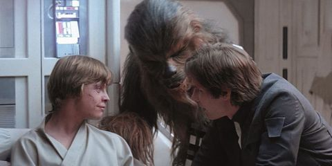 Luke Skywalker Ben Solo beso Imperio Contraataca