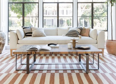 Furniture, Coffee table, Room, Table, Living room, Floor, Interior design, Chair, Wood flooring, Couch,