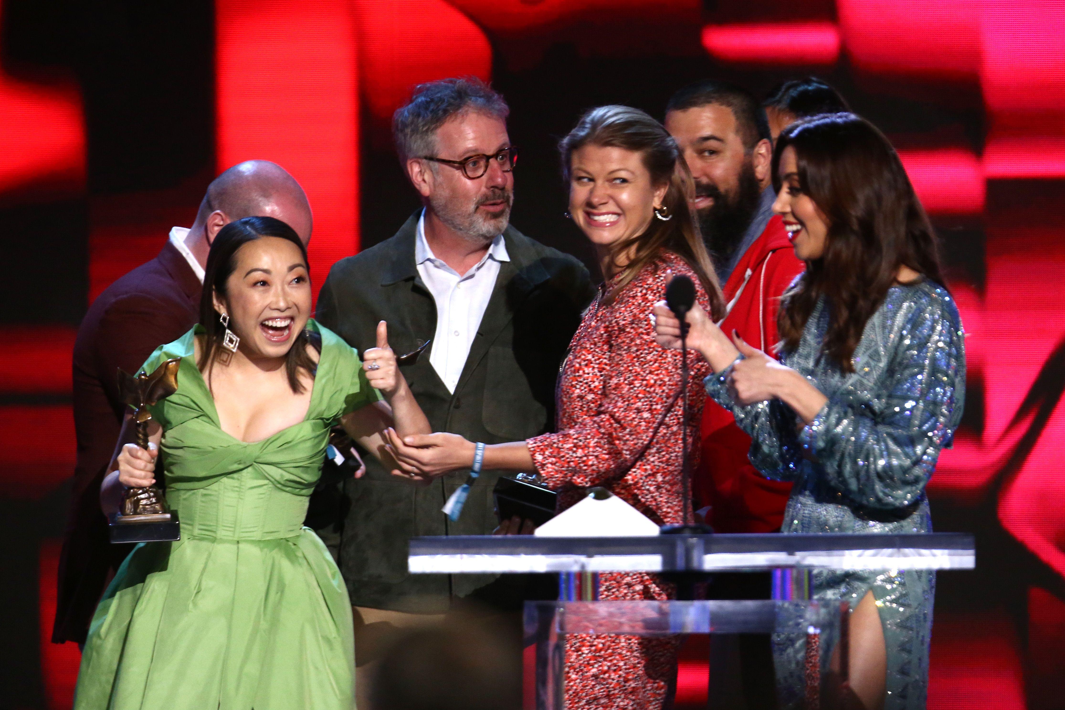 The Farewell's Lulu Wang wins top film prize at Spirit awards after Oscars snub