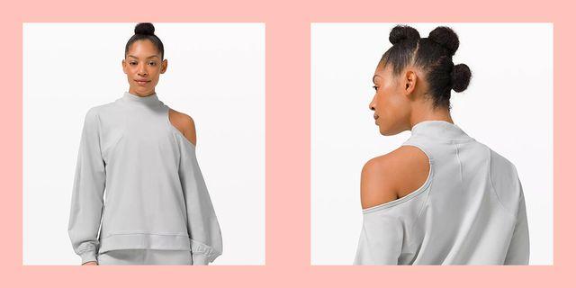 lululemon one shoulder cut out la sweatshirt