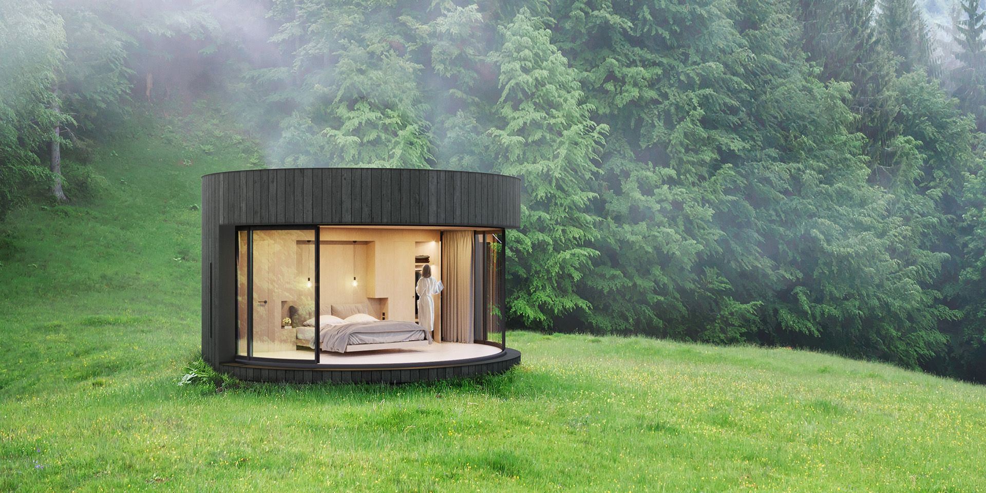 Install This Prefab Glass-and-Wood Cabin Somewhere With a Killer View