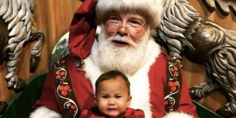 Nose, Facial hair, Human body, Moustache, Santa claus, Beard, Baby & toddler clothing, Holiday, Christmas, Fictional character,