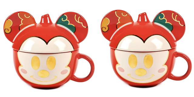 shop disney lunar new year mickey mouse mug with lid