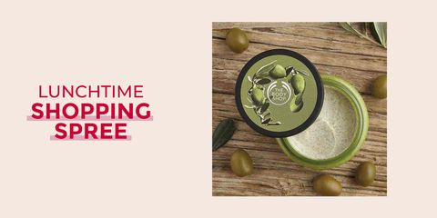 Lunchtime shopping spree - The Body Shop Olive body scrub