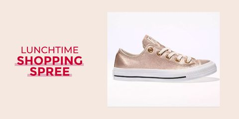 6abdd77c415 Lunchtime shopping spree  Rose gold Converse trainers - perfect ...