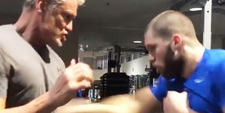 Creed 2's Dolph Lundgren & Florian Munteanu Work Out on ...