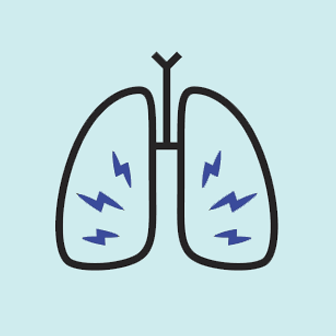 lung cancer symptom chronic infections