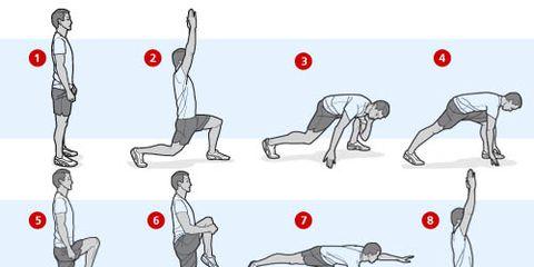 lunge balance sequence illustration