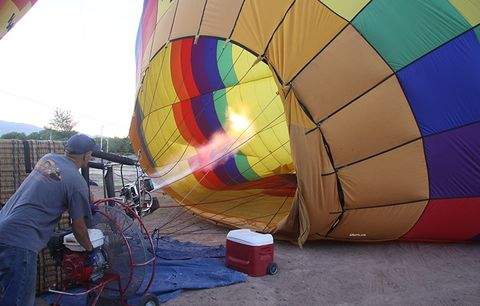 hot air balloon inflation lungs on a bike ride