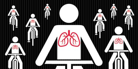 cyclist lungs