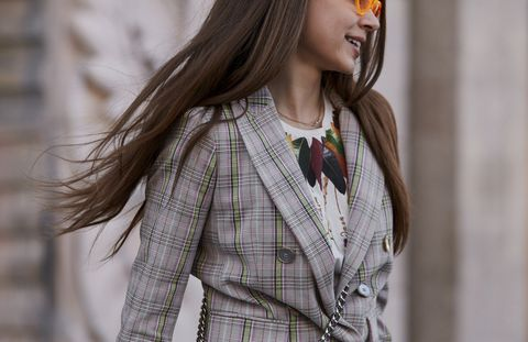 Hair, Street fashion, Clothing, Plaid, Fashion, Beauty, Pattern, Hairstyle, Tartan, Outerwear,