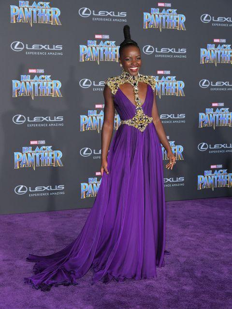 Lupita Nyong'o Black Panther Premiere