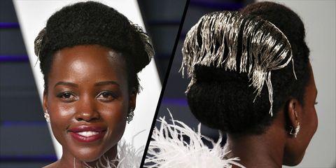 Lupita Nyong'o's hair at the Oscars 2019
