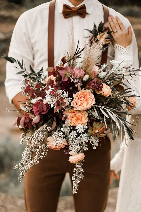 luscious fall wedding bouquet