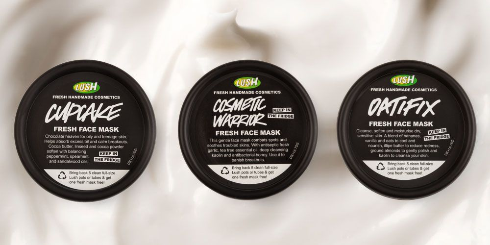 Lush face masks