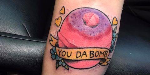 11 Tattoos of Lush Bath Bombs - Lush Employees Gets Brand Tattoos