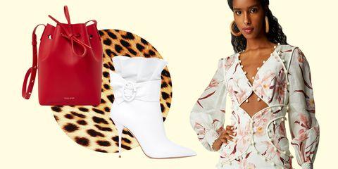 White, Footwear, Clothing, Shoe, Pink, Fashion, High heels, Fashion model, Leg, Boot,