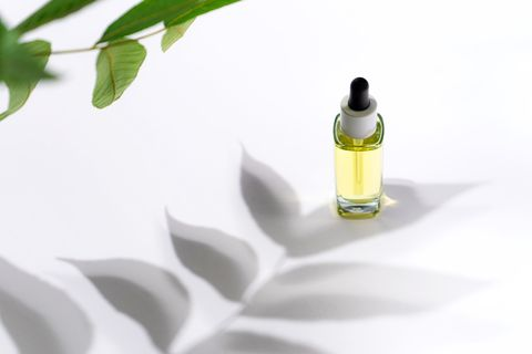 luxury cosmetic bottle skin care serum or oil, beauty cosmetic product poster