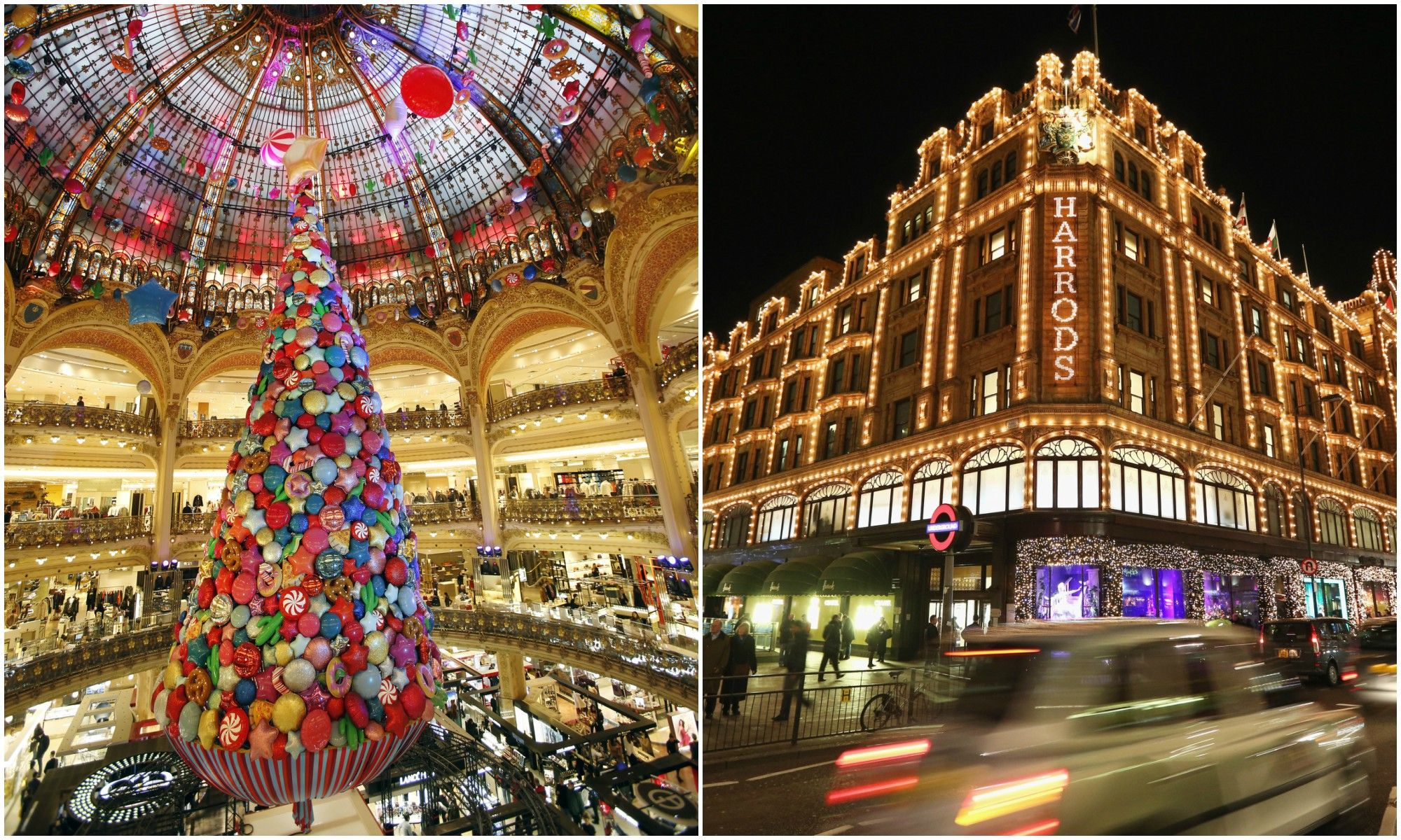 christmas shopping luxury department stores
