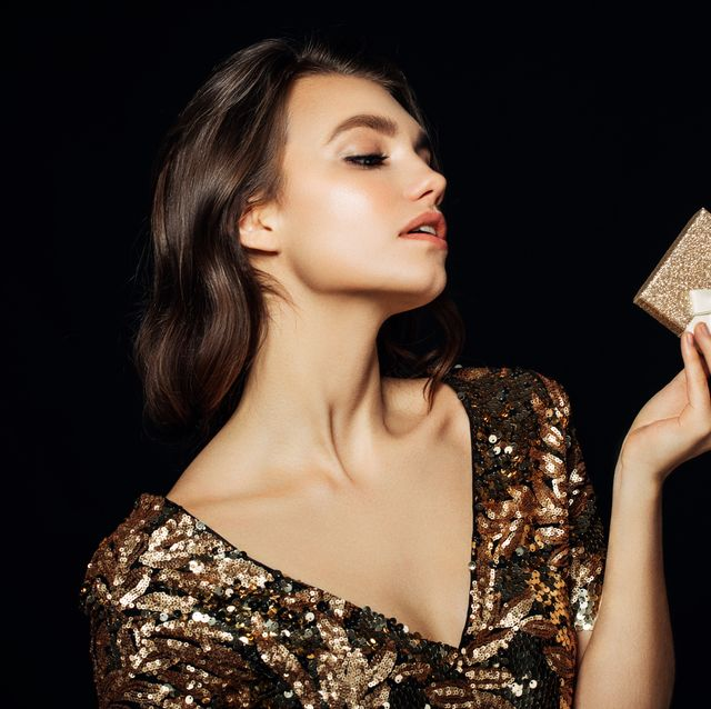 Luxury woman with a gift