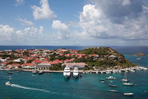 luxury yachts in harbor