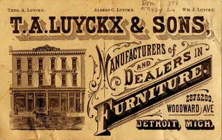 old flyer for furniture store