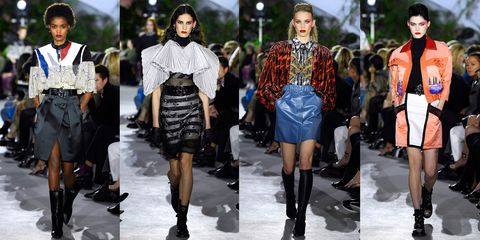 Fashion model, Fashion, Clothing, Street fashion, Runway, Fashion show, Footwear, Leather, Outerwear, Shoe,