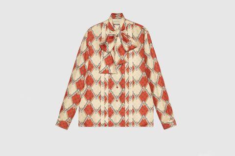Clothing, Outerwear, Sleeve, Plaid, Orange, Peach, Collar, Pattern, Pattern, Blouse,