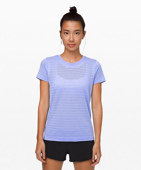 Clothing, White, T-shirt, Blue, Shoulder, Sleeve, Neck, Top, Sportswear, Fashion,