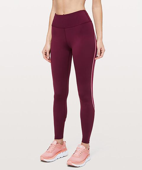Clothing, Tights, Sportswear, Leggings, Active pants, Leg, Waist, Maroon, Pink, Trousers,