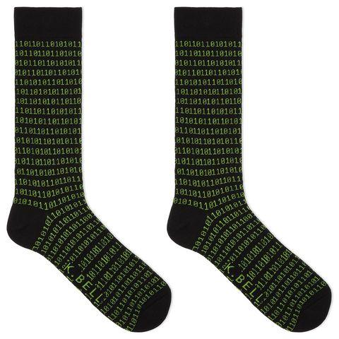 k bell mens binary tech crew socks
