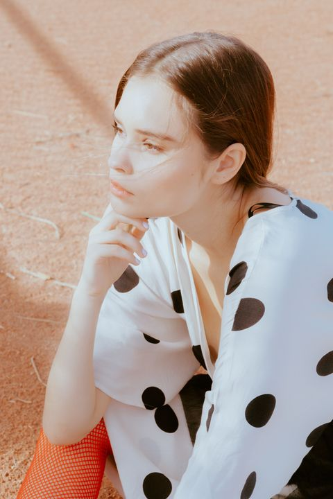 Beauty, Polka dot, Pattern, Design, Photography, Ear,