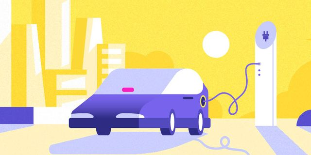 lyft illustration of an electric vehicle