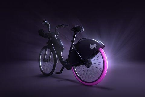 lyft bike-share bike mockup