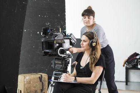 Camera operator, Filmmaking, Cinematographer, Videographer, Photography, Fashion design, Film crew, Photo shoot, Film camera, Photographer,