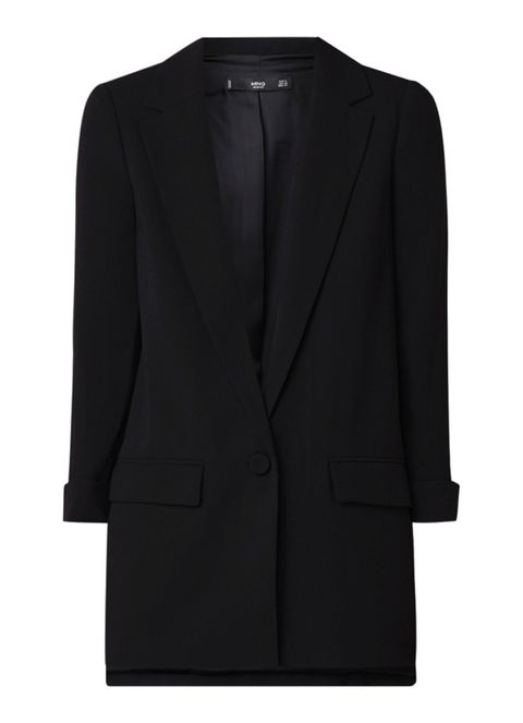 Clothing, Outerwear, Black, Blazer, Jacket, Suit, Formal wear, Sleeve, Collar, Top,