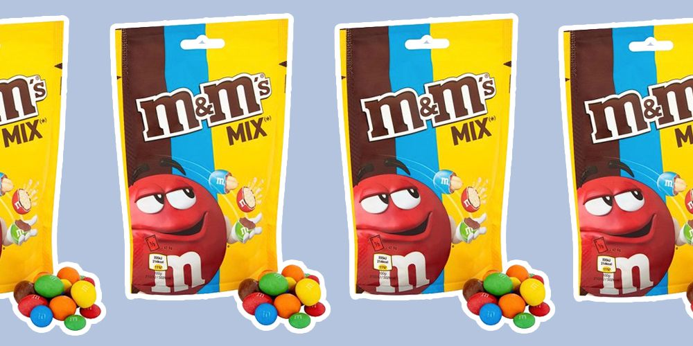 M&Ms now do mixed bags of crispy, peanut and chocolate, if edible Russian roulette is your thing