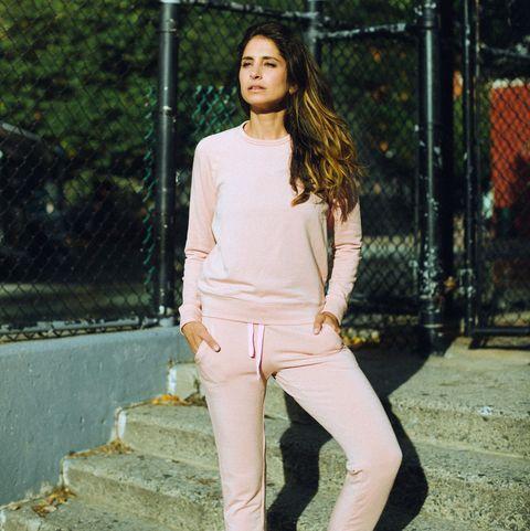 White, Clothing, Photograph, Street fashion, Beauty, Fashion, Photo shoot, Jeans, Pink, Yellow,