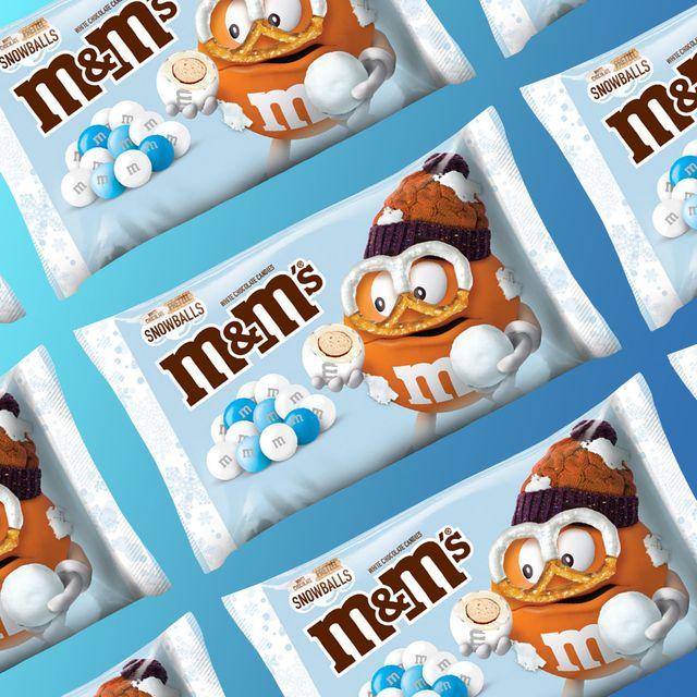 mars mm's chocolate pretzels snowballs