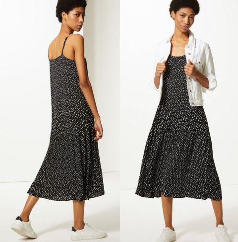Marks & Spencer summer polka-dot slip dress
