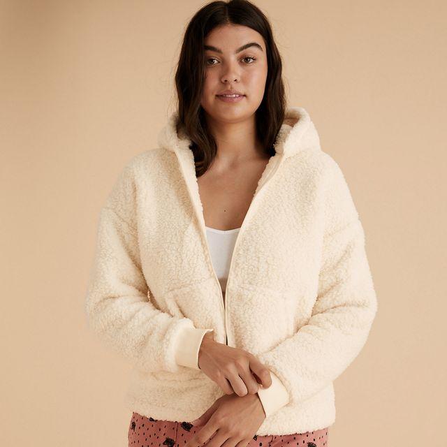 marks  spencer fleeced hoodie