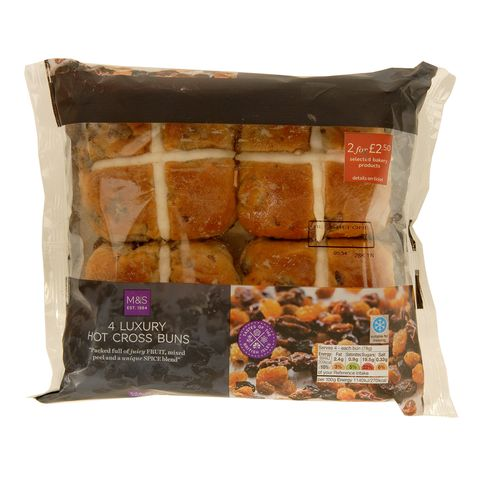 M&S hot cross bun